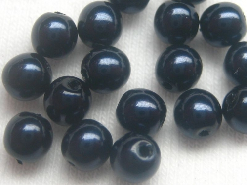 4mm Crystal Pearls Dark Blue blau 10x