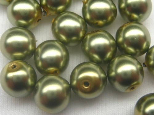 4mm Crystal Pearls Light Green 20x