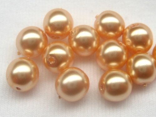 6mm Crystal Nacre Pearls Gold 20x