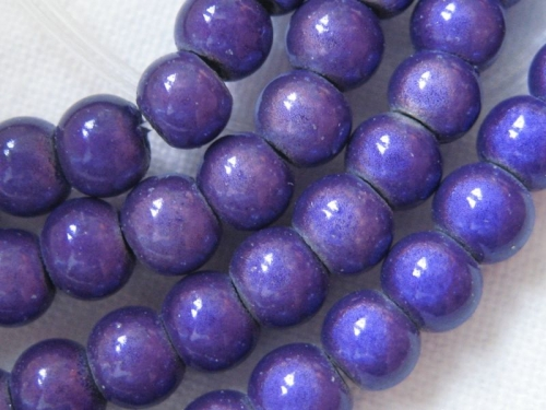 4mm Miracle Beads lila Cateye Acrylperlen 20x