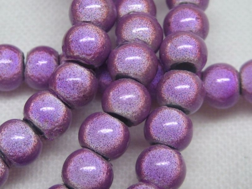 4mm Miracle Beads hell lila Cateye Acrylperlen 20x