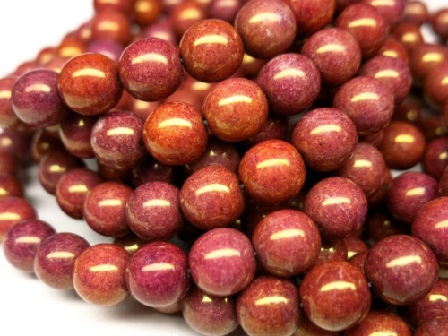 8mm Glasperlen Wild Berry Gold Luster 5x