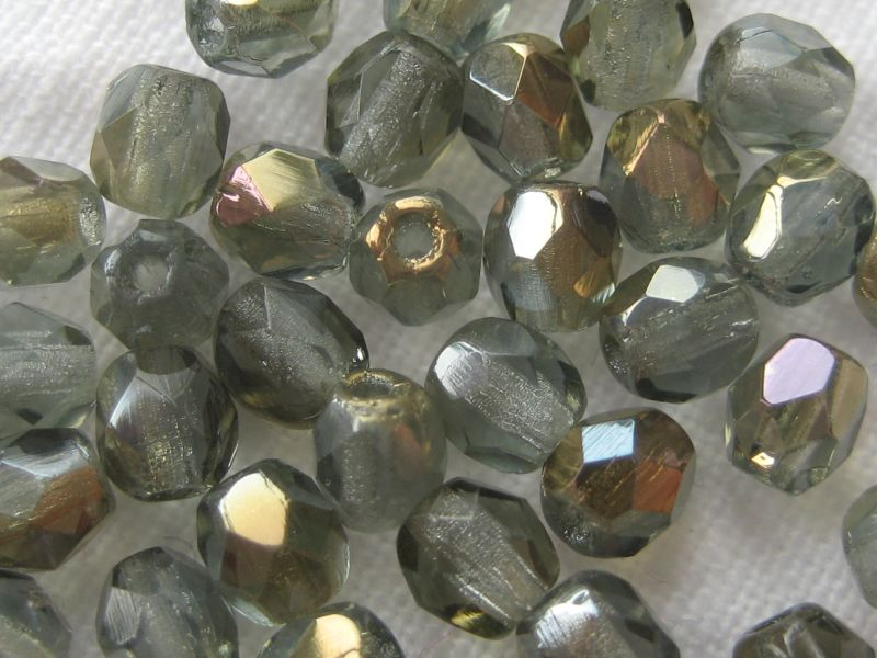 Feuerpolierte Glasschliffperlen Twilight Crystal 4mm Glasperlen Facettiert