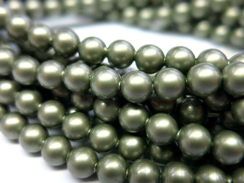 25 Iridescent Light Blue Swarovski Crystals Pearls 5810 6mm