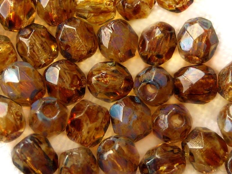 Feuerpolierte Glasschliffperlen Vitral Teal 3mm Glasperlen Facettiert